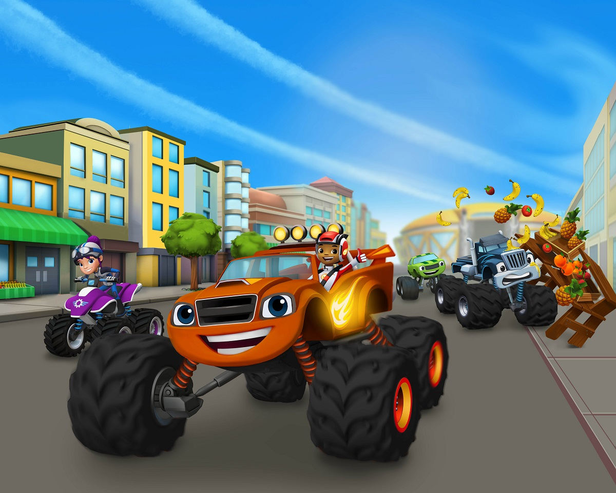 This is a graphic of Gorgeous Blaze and the Monster Machines Images