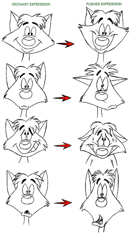 How to Draw Animation: Pushing an Expression | Animation ...