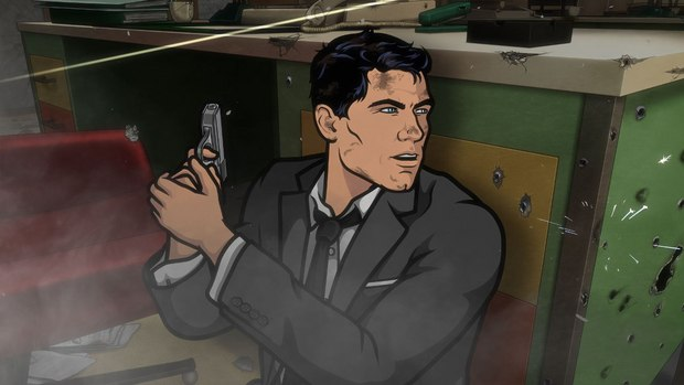 "Archer: Episode 1, Season 5 ""White Elephant."" Someone dies.  Someone who has been with the ISIS crew from the beginning.  And then things get crazy.  Pictured: Sterling Archer (voice of H. Jon Benjamin). All images courtesy of FX Networks."