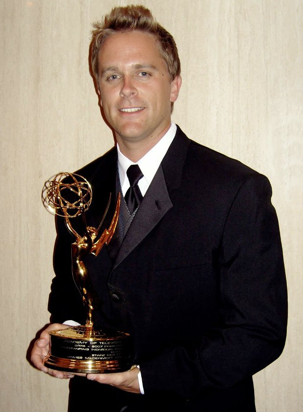 The artist with his Emmy for Outstanding Individual Achievement in Animation, circa 2007.