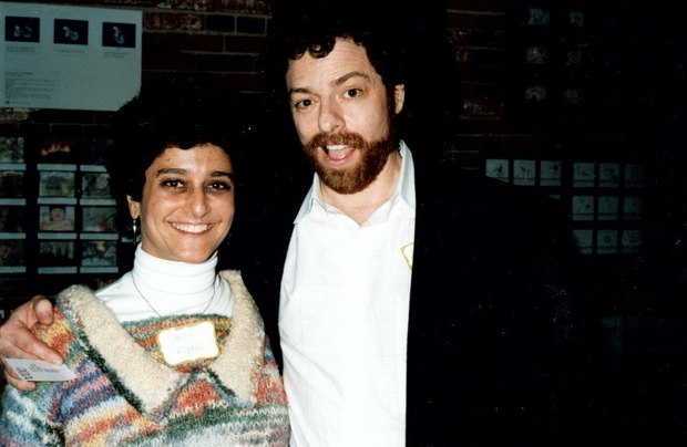 Candy Kugel and Michael in 1991 at the 4th Annual LA International Animation Festival.