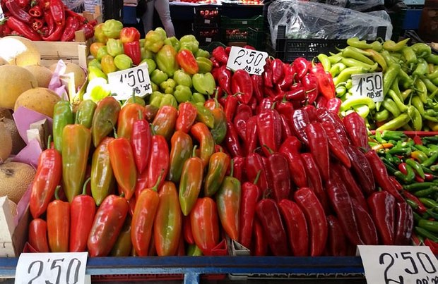 Peppers at the Women's market.