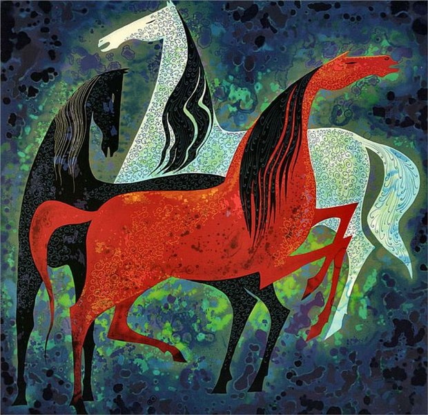 'Three Noble Horses' (1993)