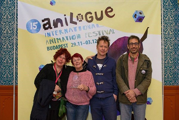 Short Film jury official photo - L-R Katariina Lilllqvist, Nancy, Tamas Patrovits,and Javier Mrad