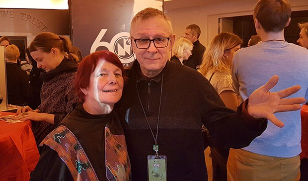 Nancy with Rao Heidmets at the Estonian cocktail reception