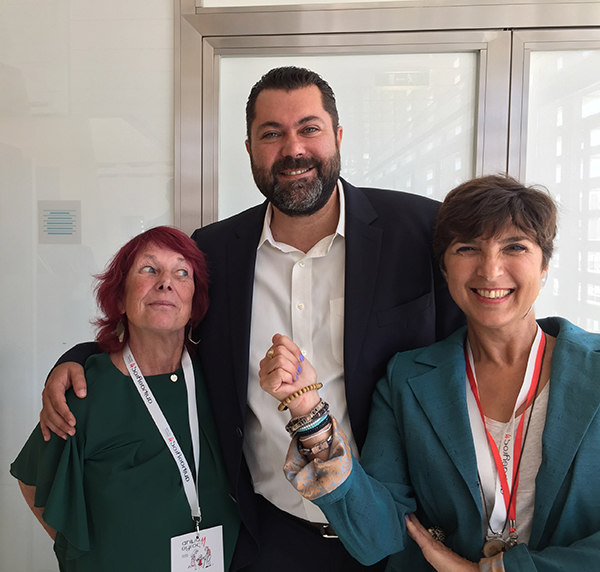 Nancy and Marineta Mak Kritikou with Lefteris Krutsos, Deputy Minister of Digital Policy, Telecommunications and Media