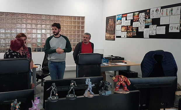 Visit to the animation department of ate ao Fim do Mundo Studio