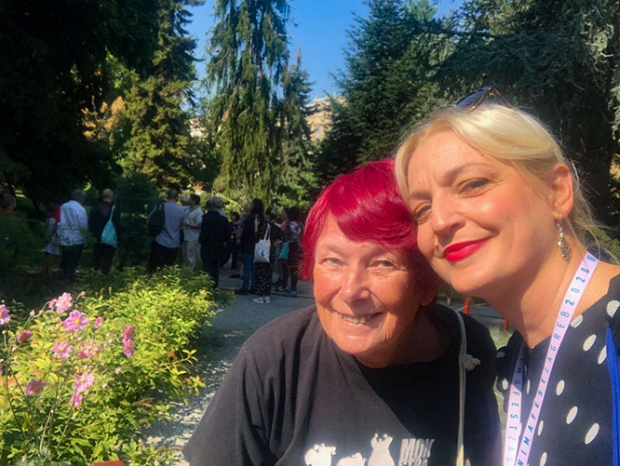Paola Orlic and me at the Botanical Garden (Photo Paola Orlic)