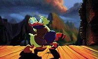 Donald Duck walks like Noah in