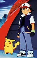 Pikachu and Ash Ketchum of Pokémon . Photo © 2000 Warner Bros. All rights reserved.