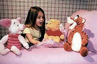 Mattel's interactive Piglet, Winnie the Pooh, and Tigger too.