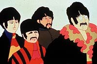 Paul, Ringo, George and Johnas cartoon characters.