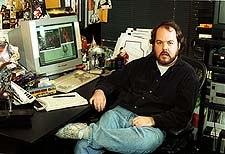 Animation Supervisor Rob Coleman. © 1999 Industrial Light & Magic. Photo Courtesy of David Owen & Sean Casey.