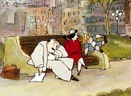 During most of the war, Paul's parents lived in New York City, while he lived in small towns with American families; from Drawn from Memory. © Acme Filmworks.