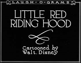 Four frames from the Laugh-O-Toon Little Red Riding Hood. Courtesy of Buena Vista Pictures Marketing and Howard Greene. © Disney.
