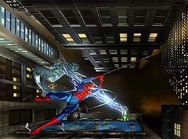 Spidey battles Electro and Hydro-man. © Universal Studios Escape; courtesy of Kleiser-Walczak Construction Company.