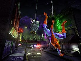 Spider-Man rounds up the villains at the end of the ride. © Universal Studios Escape; courtesy of Kleiser-Walczak Construction Company.