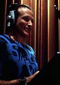Robin William's sheer exuberance as the Genie in Aladdin created a memorable and entertaining character. Courtesy Walt Disney Company.