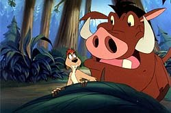 Tony and Bobs' fascination with musical cartoons started with the Timon and Pumbaa TV series. © Disney. All rights reserved.