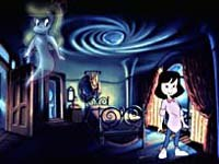 Kat, Casper's young human friend in Universal'sseries,Casper , is voiced by Kath Soucie.© MCA TV International.