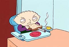 Twisted Baby Stewie is a Family Guy highlight.© FOX Broadcasting Company.