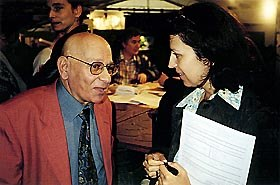 Jean-Luc Xiberras and Annick Teninge at Annecy 98. Photo courtesy of Ron Diamond.