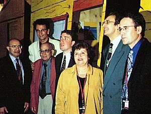 Jean-Luc Xiberras at Canal + booth. Annecy 98. Courtesy of Ron Diamond.