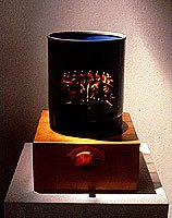 One of Iwai's hand-cranked 3D Zoetropes (1988).