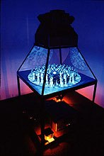 Time Stratum II featured 120 paper dolls gyrating around a reflective silver ball (1985).