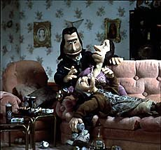 Crapston Villas, produced by The Spitting Image, features behind-the-scenes work from Bristol's Cod Steaks, John Wright and The Puppet Factory. © The Spitting Image.