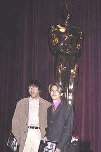 Ishikawa-san with Kunihiko Ikuhara, the director of Sailor Moon and Revolutionary Girl Utena.