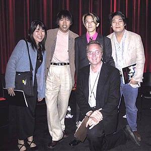 Left to right: Maki Terashima-Furata, Mitsuhisa Ishikawa, Kunihiko Ikuhara, Randy Haberkamp, AMPAS Program Coordinator, and Ken Wakita, the evening's translator for Ikuhara-san.