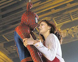 Spider-Man (Tobey Maguire) and Mary Jane Watson (Kirsten Dunst) become this generations Romeo and Juliet.