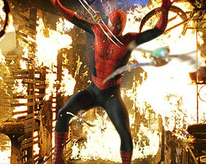 Spidey must be hoping that his new super-powers include flameproofing.