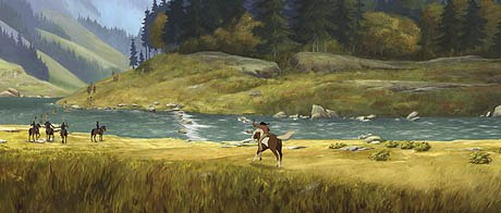 Spirit: Stallion of the Cimarron features stunning panoramic vistas of the Old West.