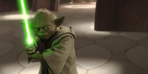 An all digital Yoda for the new century. © Lucasfilm Ltd. & TM. All rights reserved. Digital work by Industrial Light & Magic.