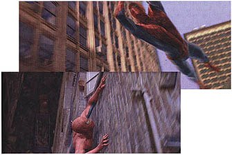 There was a lot of trial and error before Spider-Man's movements were perfected. The animators were inspired by felines, insects and Tarzan.