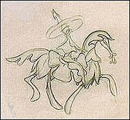 Salvador Dali's conception of a horse. © Disney Enterprises, Inc. All rights reserved.