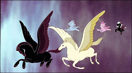 Winged horses from Fantasia (1940). © Disney Enterprises, Inc. All rights reserved.