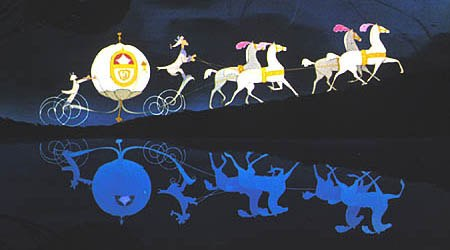 The mice-turned-carriage-horses in Cinderella (1950). © Disney Enterprises, Inc. All rights reserved.