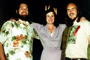 Spike (left) and Mike with Angie Pike of the Creative Film Society. © Mellow Manor Productions.
