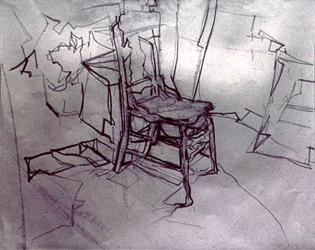 Chair, 1974. Pencil on paper, 11