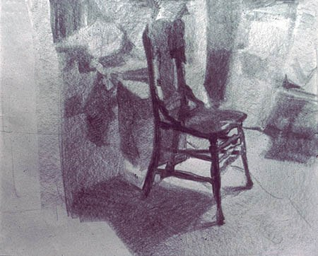 Chair 2, 1974. Graphite on paper, 11