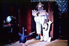 The Wrong Trousers was the first Nick Park project Steve Box worked on. © Aardman/W & G Ltd. 1993.