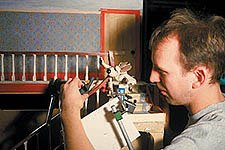 Box prefers the hands on experience of stop-motion animation. © Aardman/W & G Ltd. and BBC Worldwide Ltd. 1993.