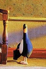 Feathers McGraw is Box's best known creation. © Aardman/W & G Ltd. and BBC Worldwide Ltd. 1993.