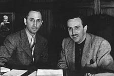 Walt Disney (right), with brother Roy in the early 1940s, has been the object of speculation and false accusations through the years. © Disney Enterprises, Inc.