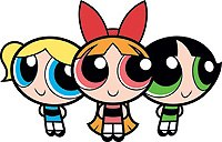 In the tiny community of Townsville, resident heroines the Powerpuff Girls combat a non-denominational evil fella donning something that looks like a devil suit. © Cartoon Network, Inc. An AOL Time Warner Company.