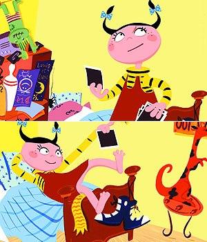 The Sparkling* and Egmont co-production, Zoé Kézako, is based on a children's book by Véronique Saüquère. © 2001 Sparx*.