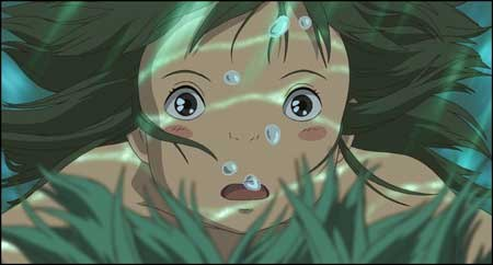 Miyazaki shows us a world of terror and a world of delight in Spirited Away. Here, Chihiro remembers falling into a river and nearly drowning as a young girl.